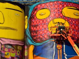 IMAGE 09 OSGEMEOS Giants Vancouver Biennale 2014 detail